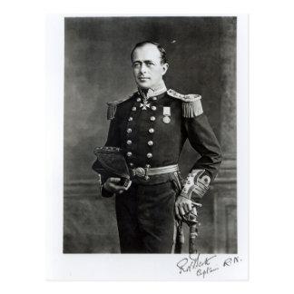 Porträt von Kapitän Robert Falcon Scott Postkarte
