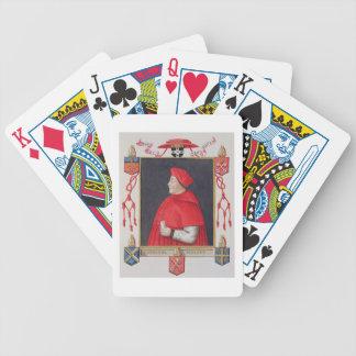 Porträt von Kardinal a Thomas Wolsey (c.1475-1530) Poker Karten