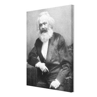 Porträt von Karl Marx Leinwanddrucke