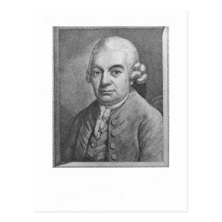 Porträt von Karl Philipp Emanuel Bach (1714-88) (e Postkarte