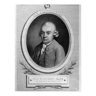 Porträt von Karl Philipp Emmanuel Bach Postkarte