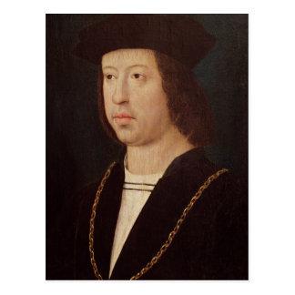 Porträt von König Ferdinand-II von Spanien Postkarte