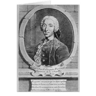 Porträt von Louis-Claude d'Aquin Karte