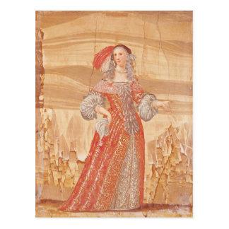 Porträt von Madeleine Bejart in der Rolle von Postkarten