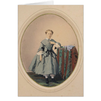 Porträt von Madeleine de Malaret Grußkarte