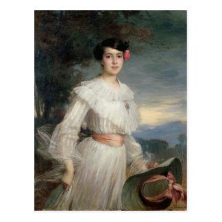 Porträt von Madeleine Reclus, 1902 Postkarte