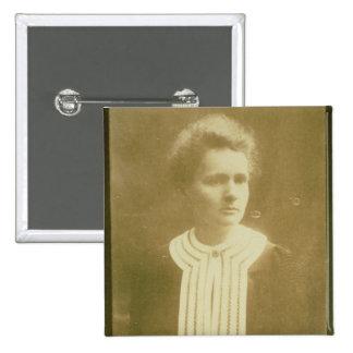 Porträt von Marie Curie Quadratischer Button 5,1 Cm