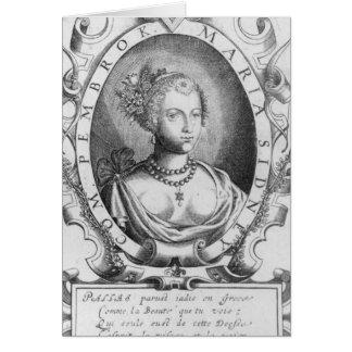 Porträt von Mary Sidney, Gräfin von Pembroke Grußkarte