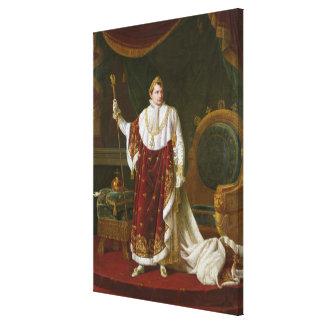 Porträt von Napoleon in seinen Krönungs-Roben Leinwanddruck