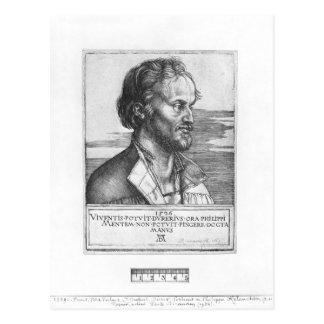 Porträt von Philipp Melanchthon, 1526 Postkarte