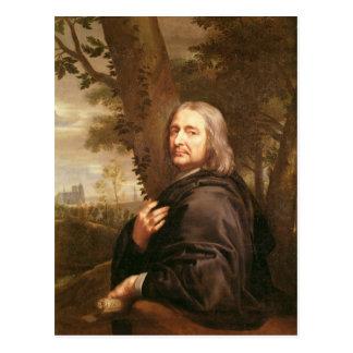 Porträt von Philippe de Champaigne, 1668 Postkarte