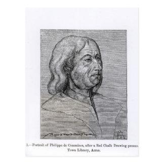 Porträt von Philippe de Commines Postkarte