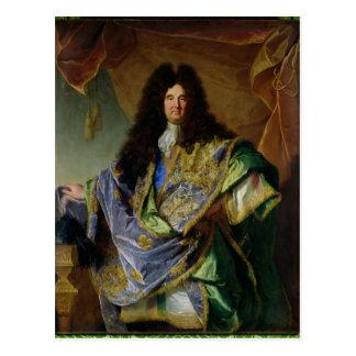 Porträt von Philippe de Courcillon Marquis Postkarte