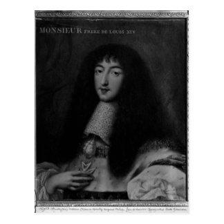 Porträt von Philippe Duc d'Orleans Postkarte