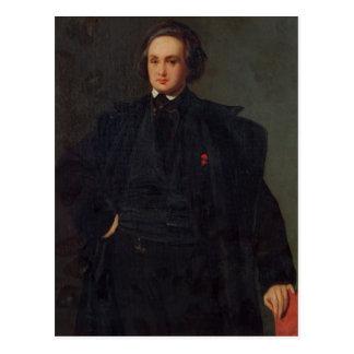 Porträt von Victor Hugo, c.1833 Postkarte