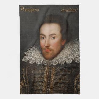 Porträt William Shakespeares Cobbe circa 1610 Küchenhandtuch