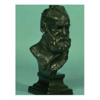 Porträtkopf von Victor Hugo (1802-85) (Bronze) Postkarte