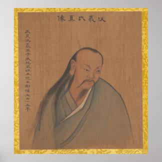 Porträts der Kaiser der aufeinander folgenden Poster