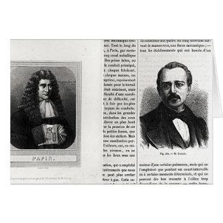 Porträts von Denis Papin und von Etienne Lenoir Karte