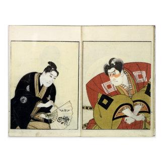 Porträts von zwei Schauspielern, 1803 Postkarte
