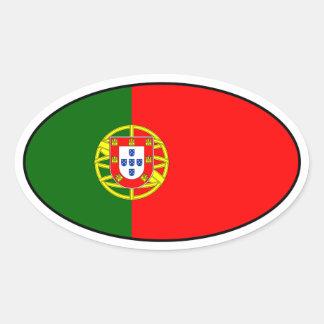 Portugal-Flaggen-Oval-Aufkleber Ovaler Aufkleber