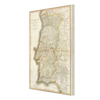 Portugal-Karte Galerie Falt Leinwand