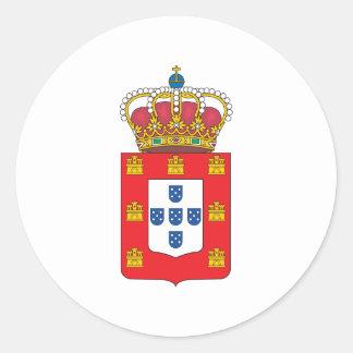 Portugal-Wappen 1830 Runder Aufkleber