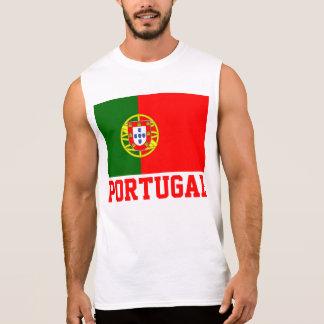 Portugal-Weltflaggen-Text Ärmelloses Shirt