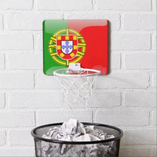 Portugiesische glatte Flagge Mini Basketball Ring