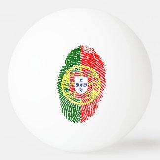Portugiesische Touchfingerabdruckflagge Ping-Pong Ball