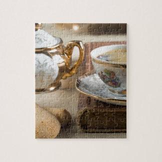 Porzellan-Geschirr vom 19. Jahrhundert Deutschen Puzzle
