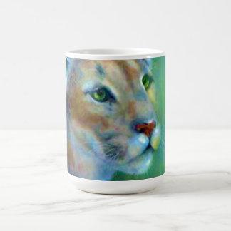 Porzellan Tasse-Gemalter Puma Tasse