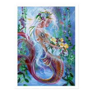Posies und Perlen, Meerjungfraukunst Postkarte