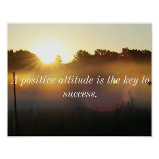 Positive Haltungs-inspirierend Poster