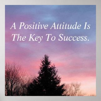 Positive Haltungs-Plakat-inspirierend Plakat