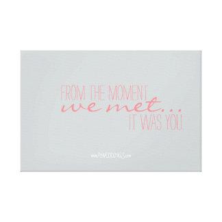 Positive Motivations-Hochzeits-Plakat-Koralle Gespannter Galerie Druck