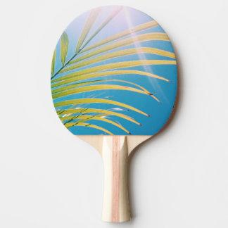 Positive Schwingungens-sonniges Palme-Klingeln Tischtennis Schläger