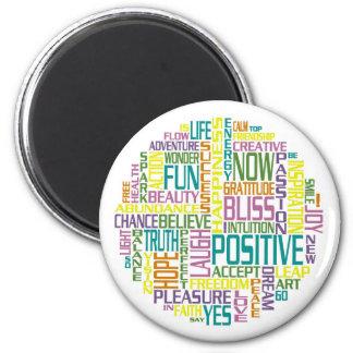 Positive Wort-Magneten Runder Magnet 5,1 Cm