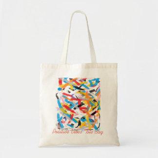 Positives Vibes-Spritzen der FarbTaschen-Tasche Tragetasche