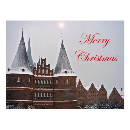 Postcard - Merry Christmas Postkarte