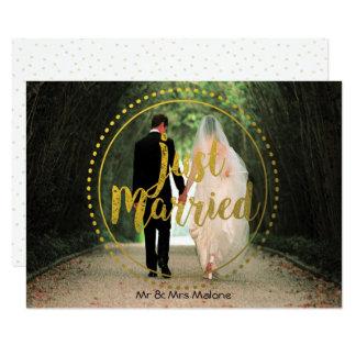 Posten-HochzeitBrunch des Goldgerade verheirateter 11,4 X 15,9 Cm Einladungskarte