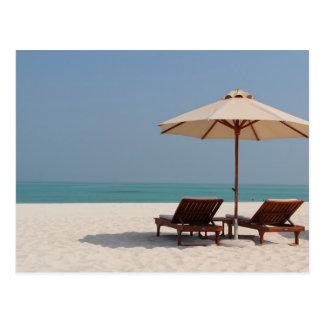 Postkarte - Abu Dhabi - Dubai -Strand