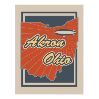 Postkarte Akrons, Ohio - Reise-Postkarte