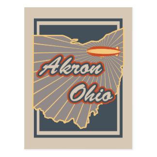 Postkarte Akrons, Ohio - Reise-Postkarte v2