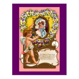 Postkarte Amordie Vintage Valentines Postkarte