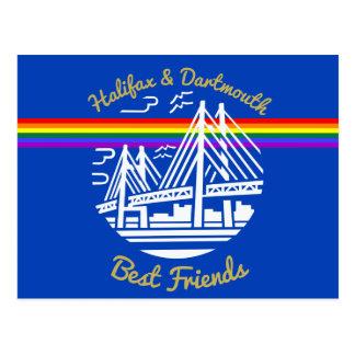 Postkarte bester Freunde Stolz-Halifaxes Dartmouth