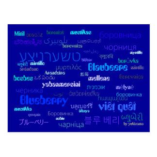 Postkarte - Blaubeere