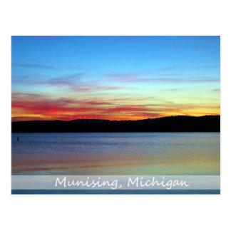 Postkarte/dargestellter Felsen-Sonnenaufgang Postkarte
