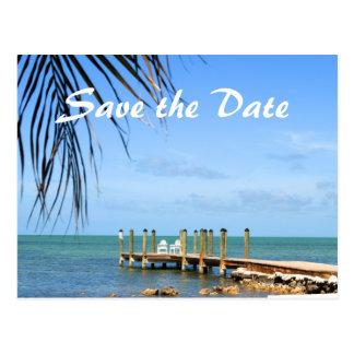 Postkarte der Hochzeit in Urlaubsort Save the Date