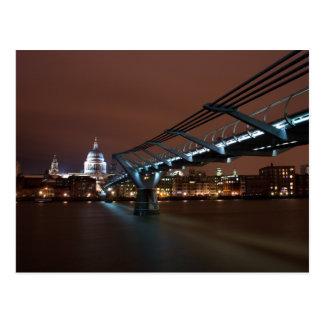 Postkarte der Jahrtausend-Brücke, London